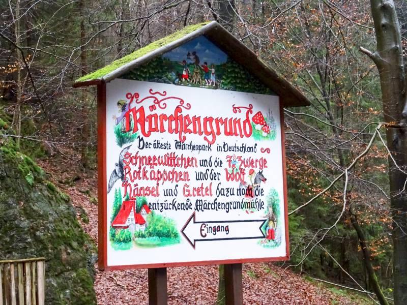 Märchengrund Bad Sachsa Wegweiser